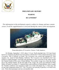 NTSB Preliminary Report on the Conception